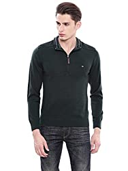 Arrow Sports Mens Sweater (AKOS8052_Green_S FS)
