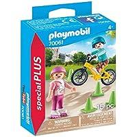 PLAYMOBIL- Special Plus Especial Niños Bici y Patines, Color carbón (70061)