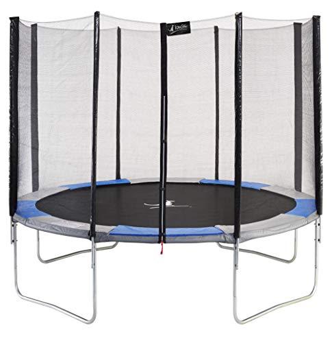 KANGUI RALLI 360 - Cama elástica de jardín (diámetro 360 cm, Redonda, con Red de Seguridad)