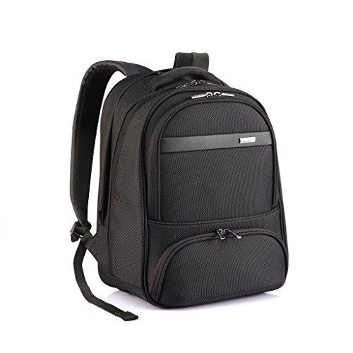 """Verage Elite Rucksack Schwarz M-42 cm mit speziellen Fächer für Laptop bis 14"""" und Ladegerät Handy Schlüssel usw. Spitzenverarbeitung, Teflon Beschichtung, Wasser/Öl/Dreck-abweisend"""