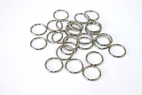 O-Ringe-Rundringe 10 Stück, Ø 12mm *verchromt* für 12mm Gurt/Band geeignet. (Nähen Ringe)