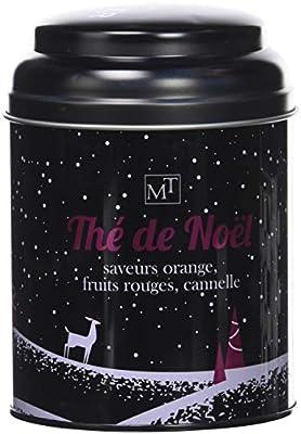 Maison Taillefer Thé Noir de Noël Boite Métal 100 g - Lot de 4