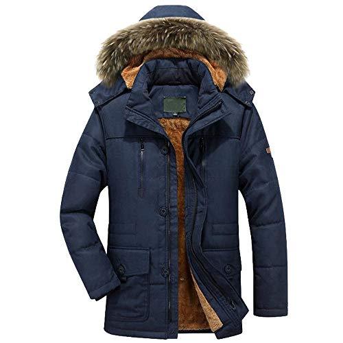 Elecenty giacca caldo invernale da uomo cappotto con cerniera cappotto lungo sottile con trench lungo outwear top giacche