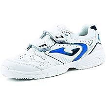 Joma École 604 W Blanc Royal - Chaussures Enfant (29) pr43t