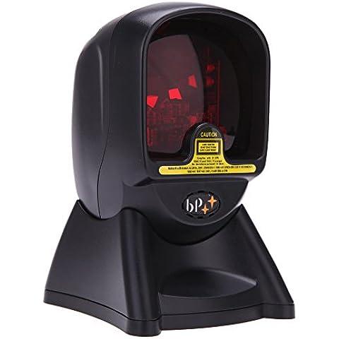 KKmoon Omnidireccional Automático Láser Escáner Lector de Código de Barras de 24 Líneas Mano Libre para Supermercado y