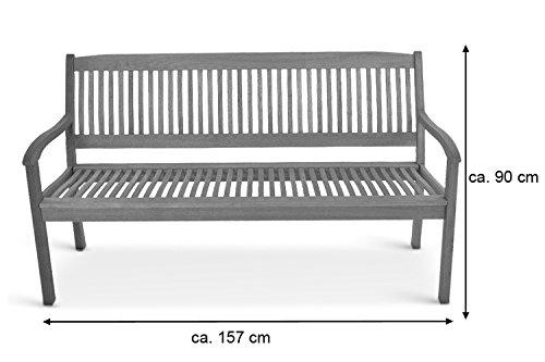 SAM® Gartenbank France aus Akazienholz, FSC® 100% zertifiziert, 157 cm, 3-Sitzer Holzbank, geölt, Garten-Möbel aus Akazie, massive Holz-Bank für Terrasse - 6