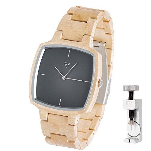 KERBHOLZ Hans, handgefertigte Armbanduhr + Exklusives Fachwerkzeug zum Anpassen des Armbandes -...
