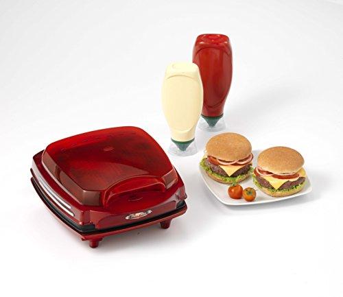 Ariete 185 Party Time – Macchina per hamburger, 1200 W, doppia piastra antiaderente, colore: rosso confronta il prezzo online