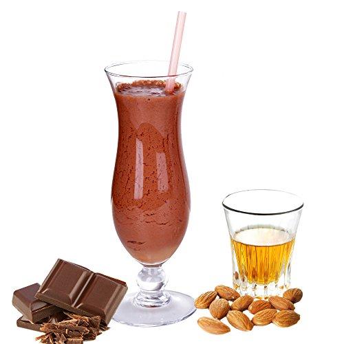 Amaretto Schoko Geschmack Proteinpulver Vegan mit 90% reinem Protein Eiweiß L-Carnitin angereichert für Proteinshakes Eiweißshakes Aspartamfrei (1 kg)