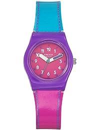 Trendy Kiddy - KL 246 - Montre Fille - Quartz Analogique - Cadran Rose - Bracelet Plastique Multicolore