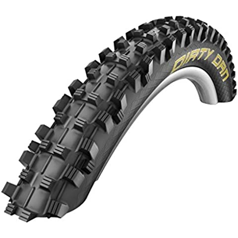 Schwalbe Dirty Dan Super Gravity Tubeless Easy Pneumatico da Bicicletta, Nero, 27.5x235