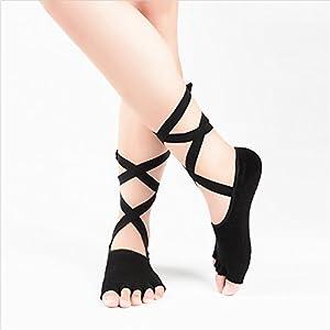 Maybesky Yoga Socken Rutschfeste Atmungsaktive Silikon Socken fünf Finger Socken weiblich Pilates, Anti-Rutsch-Slip-Socken