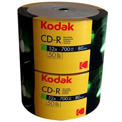 50 KODAK CD -R 52X Vergini 700 MB 80 Minuti Ecopack K1210150