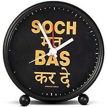 ASWHOLE Ideas Inspirational SOCH MAT BAS KAR DE Alarm/Table Clock for Home Décor/Office