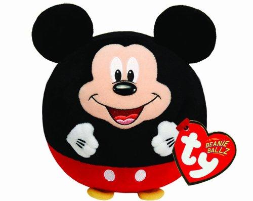 TY 58101 - Disney Ball - Mickey Beanie Ballz mit Soundchip, Plüsch, Durchmesser 12 cm (Beanie Ty Mickey)