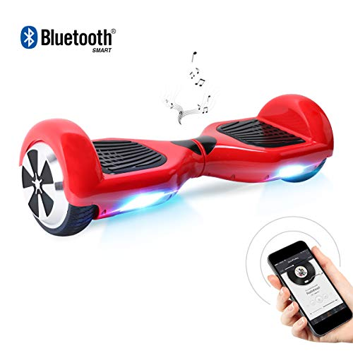 "BEBK Hoverboard, 6.5"" Self Balancing Scooter mit Bluetooth Lautsprecher - Tragetasche - LED Lights Elektro Scooter"