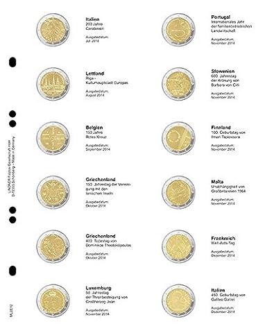 Lindner MU2E15 Multi collect Image illustrée pour 2 pièces EURO-commémoratives:
