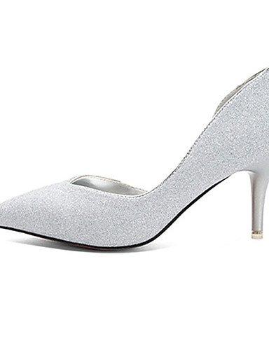WSS 2016 Chaussures Femme-Décontracté-Noir / Argent / Or-Talon Aiguille-Talons-Chaussures à Talons-Laine synthétique golden-us5.5 / eu36 / uk3.5 / cn35