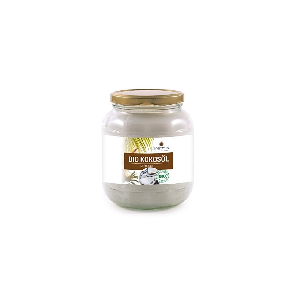Meracus Bio Kokosl Geschmacksneutral Desodoriert Im Glas 1er Pack 1 X 1 L