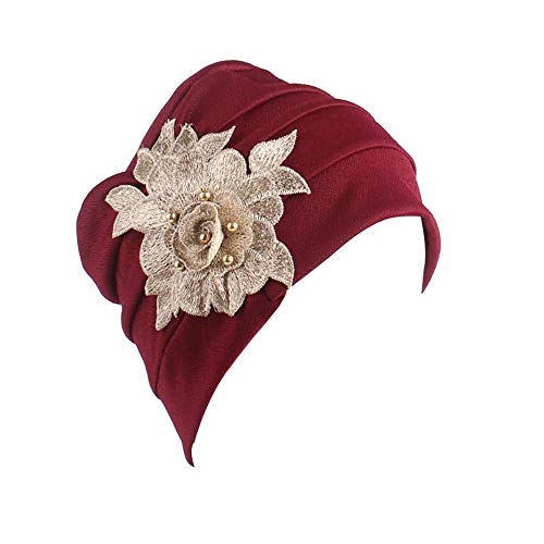 XIAXIACP Indian Style Kopftuch Mütze Warm Damen Warme Kopftuch Mütze Chemotherapie Hut Eng Anliegender Stoff Dehnbar Eng Für Frauen Winter Patient Cosplay Kostüm Dekor Zubehör,4