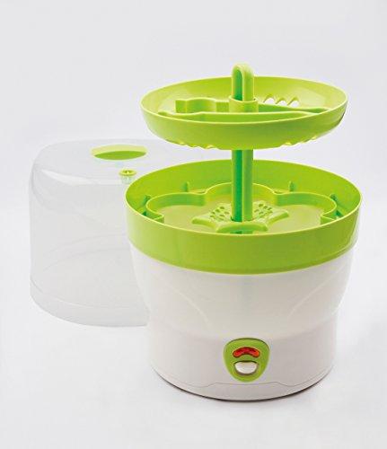 H+H BS 29g Babyflaschen-Sterilisator für 6 Flaschen in grün - 3
