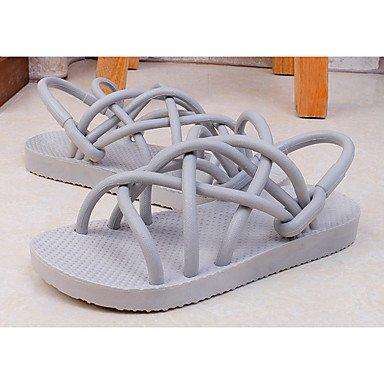 LvYuan Unisex-Sandali-Tempo libero Formale Casual-Cinturino alla caviglia Suole leggere pattini delle coppie Comoda Innovativo Alla schiava- White
