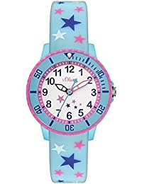 s.Oliver Mädchen-Armbanduhr Analog Quarz Silikon SO-3179-PQ