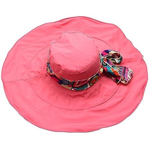 Cappelli con Visiera Piatta Cotone – LATH.PIN Floppy Cappello da Sole Spiaggia Donna Fedora Larga (Piccolo Cappello Pin)