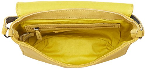 Petite Mendigote WALDO, Borsa a Tracolla Donna, 6x20.5x21 cm (W x H x L) Giallo (Lime)
