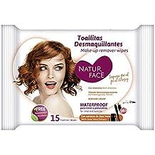 Natur Face - Toallitas desmaquillantes Waterproof - 15 uds.