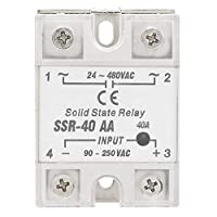 Acozon تتابع الحالة الصلبة Ssr-40Aa 40A وحدة تتابع حالة صلبة AC مدخل 90-250 فولت تيار متردد خرج 24-480 فولت تيار متردد