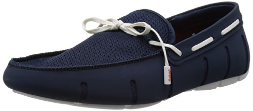 SWIMS Lace Loafer, Herren Mokassin, Blau (Navy/White 048), 44 EU (Loafer Signature Schuhe)