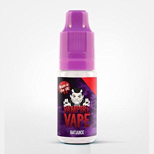 Vampire Vape E-Liquids-heiß begehrt-verschiedene exklusive Geschmackssorten-10ml-gute Dampfentwicklung-für E-Zigarette/E-Shisha-0mg Nikotin (Bat Juice-fruchtige Beeren+kühlender Abgang)