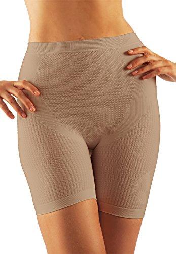 Farmacell 302 (Carne, S/M) Mini Pantalon Corto masajeador, moldeador y con efecto push-up en los gluteos