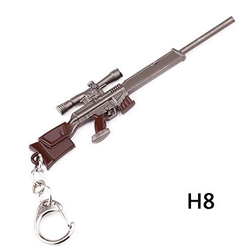 Fernando Feliz Llavero - 13 CM M4 Rifle de Francotirador Modelo de Juguete de Aleación -Juguetes de Réplica de Armas para Niños Adultos, Decoraciones-Figura Juguetes Colección Bonito Llavero Regalo
