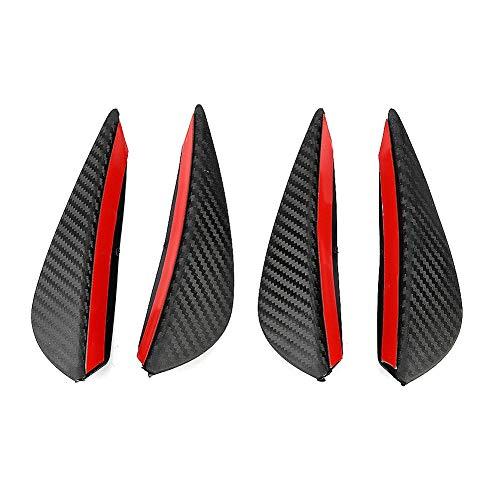 Outbit Windabweiser - Kohlefaser Auto Modifizierte Frontstange Windmesser Frontschürze Universal
