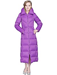 Queenshiny Long to ankle Women's Down Coat duck down filling winter jacket uk size from 8--20 black purple red