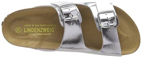 Lindenzweig 55-39402, Mules femme Argent - Silber (silber)