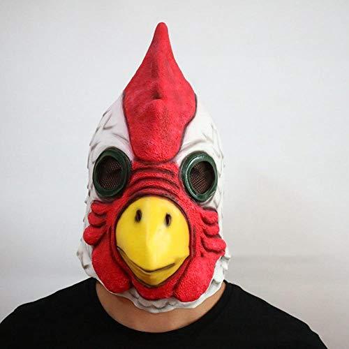 Circlefly Testa di Halloween maschera cappuccio Gallo Maschera lattice animale parrucca