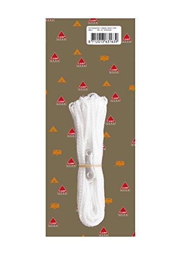 Camping Gear 4163163-Cuerda 10 m, color blanco