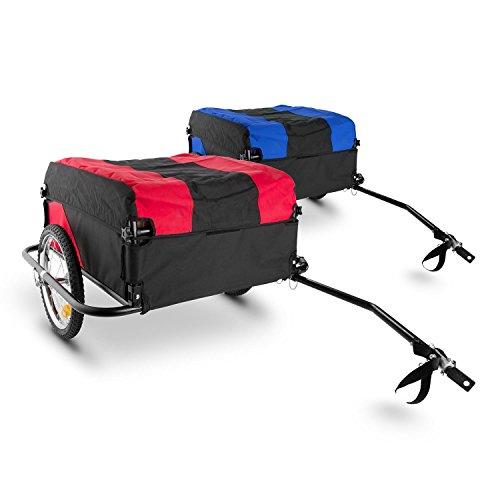 DURAMAXX Mountee • Fahrradanhänger • Lastenanhänger • Handwagen • mit Hochdeichsel • Transportbox mit 130 Liter Volumen • Tragkraft: max. 60 kg • Kugel-Kupplung für Fahrräder mit 26'' - 28'' • pulverbeschichteter Stahlrohrrahmen • rot - 2