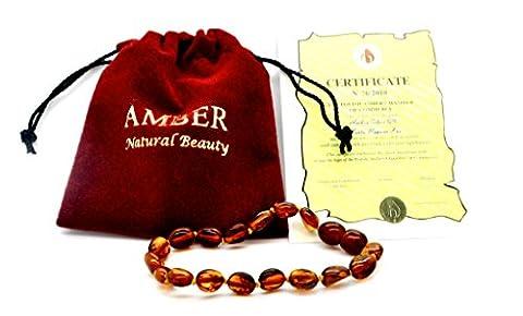 Bracelet de cheville Perles en forme de haricots Ambre