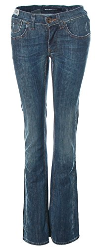 Miss Sixty Damen Jeans Hose High Waist Tom Blau W25 L34 (Miss Baumwolle Sixty Hose Aus)
