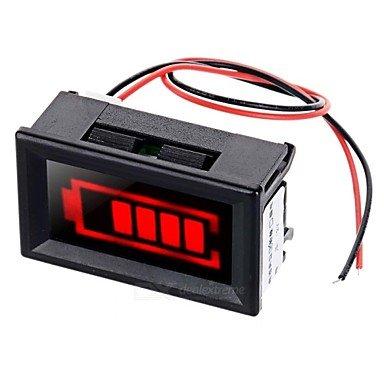 ULIAN Arduimo accessonries Module/Sensoren für Arduino Red Light Elektrische Menge Displayer mit Strobe Alarm für 12V Blei-Säure-Akku (Strobe Alarm Light)