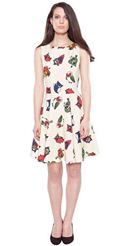 Cutie Kleid TATTOO ART OWLS DRESS 4564 Beige