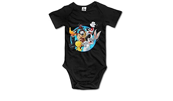 RTGreat Looney Tunes Logo Designed Baby Girl Boy Romper Jumpsuit Cotton Jumpsuits