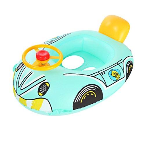 vedette à moteur Gonflable Natation Bague Anneau de natation pour bébé Enfants nager Sécurité Eau Jouet 2-8 Ans (vert)