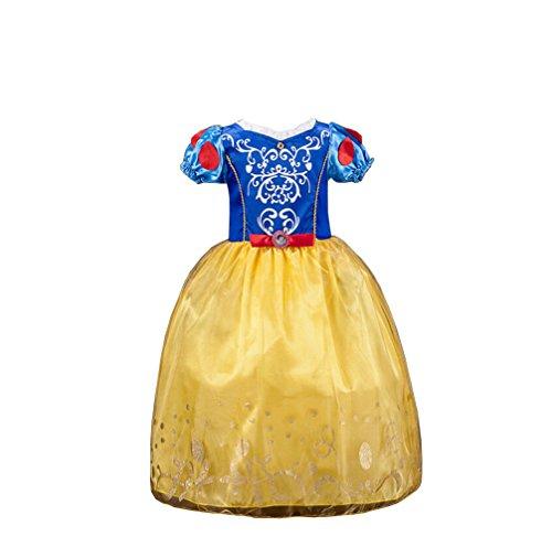 Das beste Kleine Mädchen Rollenspiel Schneewittchen Prinzessin Kostüm Luxuriös Kinder (Schneewittchen Mädchen Kostüm)