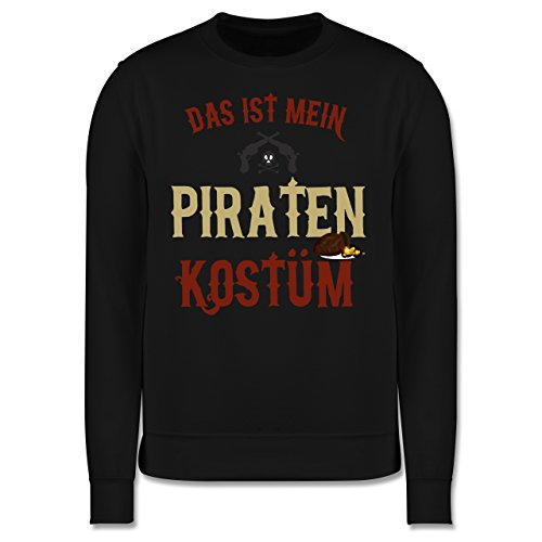 Karneval & Fasching - Das ist mein Piraten Kostüm - Herren Premium Pullover Schwarz