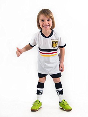 Trikotset Trikot Kinder 4 Sterne Deutschland WUNSCHNAME Nummer Geschenk Größe 116-176 T-Shirt Weltmeister 2014 Fanartikel EM 2016
